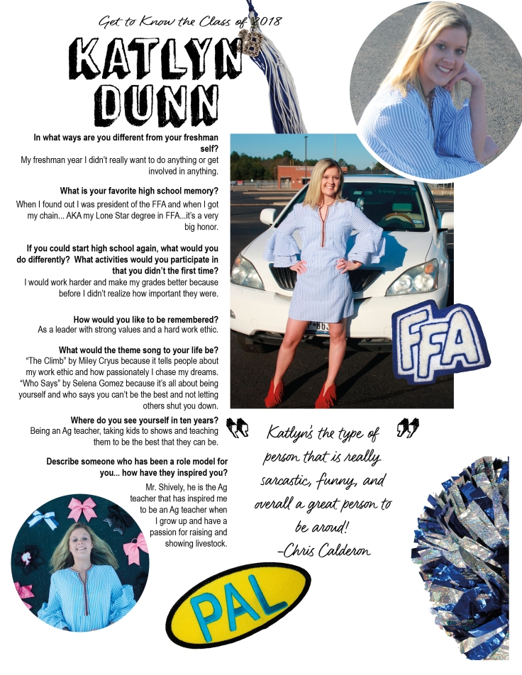 Katlyn Dunn- Senior Profile